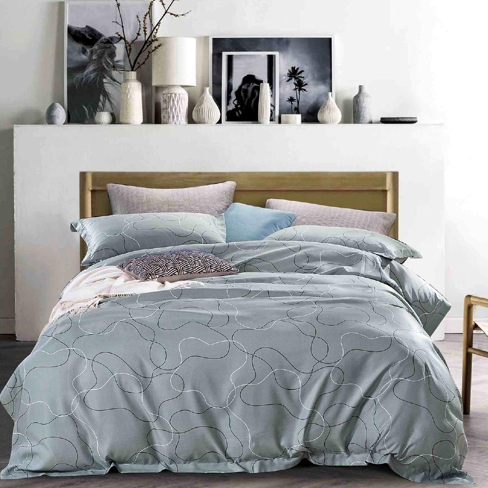 Saint Rose 律動 加大天絲+3M專利吸濕排汗 枕套床包三件組