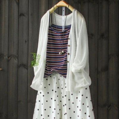 破繭成蝶輕薄鏤空針織衫空調衫防曬外搭-設計所在