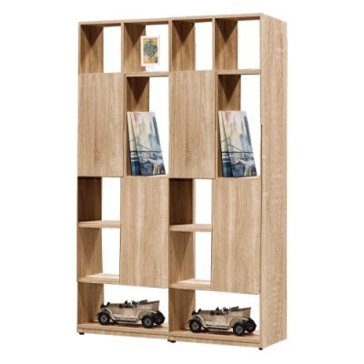文創集 威爾比4尺雙面櫃(二色+四種組合可選)-120x30x180cm免組