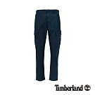 Timberland 男款深寶石藍彈力防撕裂斜紋布拼接工裝褲|A1YJ9