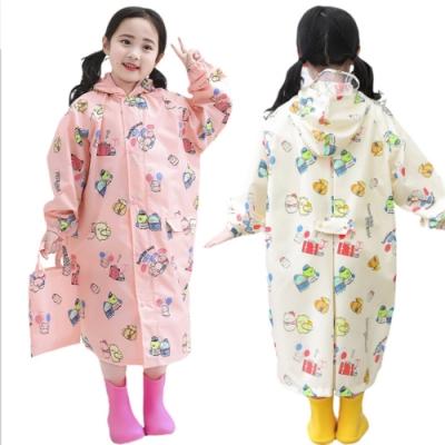 【優貝選】角落小夥伴印花可加大書包位置兒童雨衣
