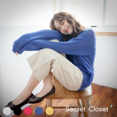 Secret Closet-秋冬V領毛海針織毛衣