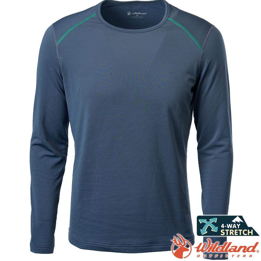 Wildland 荒野 0A62668-93深灰色 男輕量鍺纖維親膚保暖衣