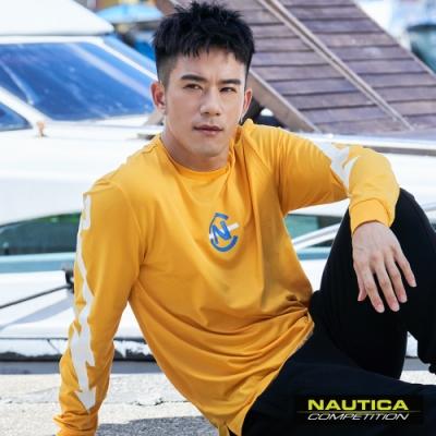 Nautica JR紀言愷聯名款閃電LOGO長袖T恤-黃