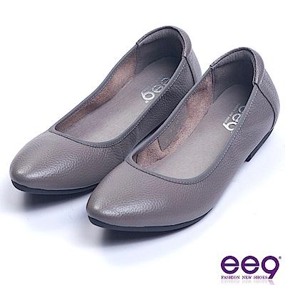 ee9 芯滿益足經典簡約百搭素面娃娃鞋 灰色