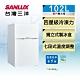 [館長推薦] SANLUX台灣三洋 102L 1級定頻雙門電冰箱SR-C102B1 product thumbnail 2