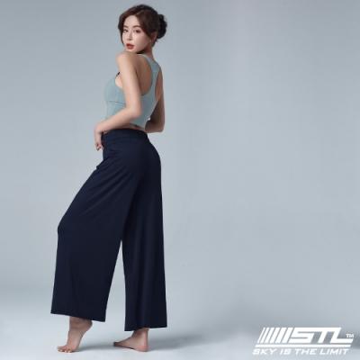 STL yoga ESSENCE Light Quick Dry 韓國瑜珈 運動機能 加長加寬 本質落地寬舒服褲 午夜藍
