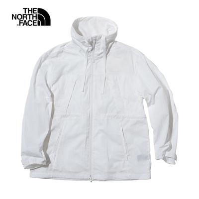 The North Face北面UE女款白色防潑水多口袋防風外套|5JUUFN4