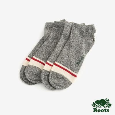 Roots配件- 經典彩色短襪 (男)-灰色