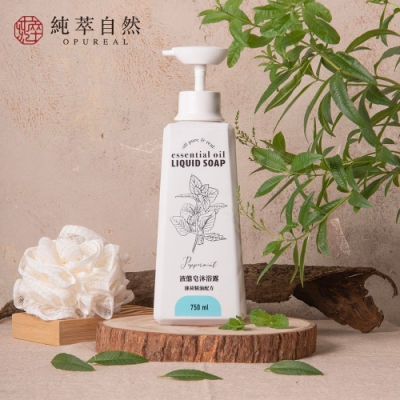 純萃自然-植萃精油液態皂沐浴露-芬多精森林-750ml