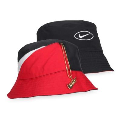 NIKE 漁夫帽 紅黑白