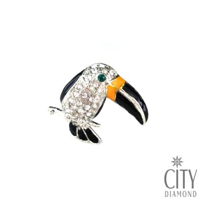 City Diamond 引雅 日系大嘴鳥.啄木鳥領帶領帶夾/別針/徽章/胸針【東京Yuki系列】