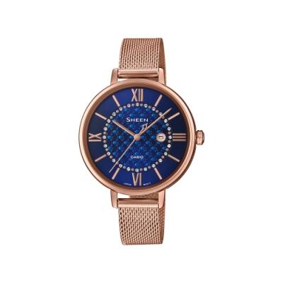 CASIO卡西歐 SHEEN 時尚 米蘭錶帶 SHE-4059PGM-2A_34mm