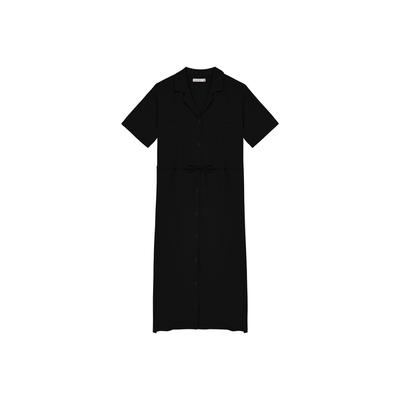 Shester55-絲滑繫帶襯衫洋裝(二色)-女【B2SH155】