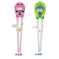 Poli - 韓國原裝進口兒童學習筷2入組-- 安寶+赫利