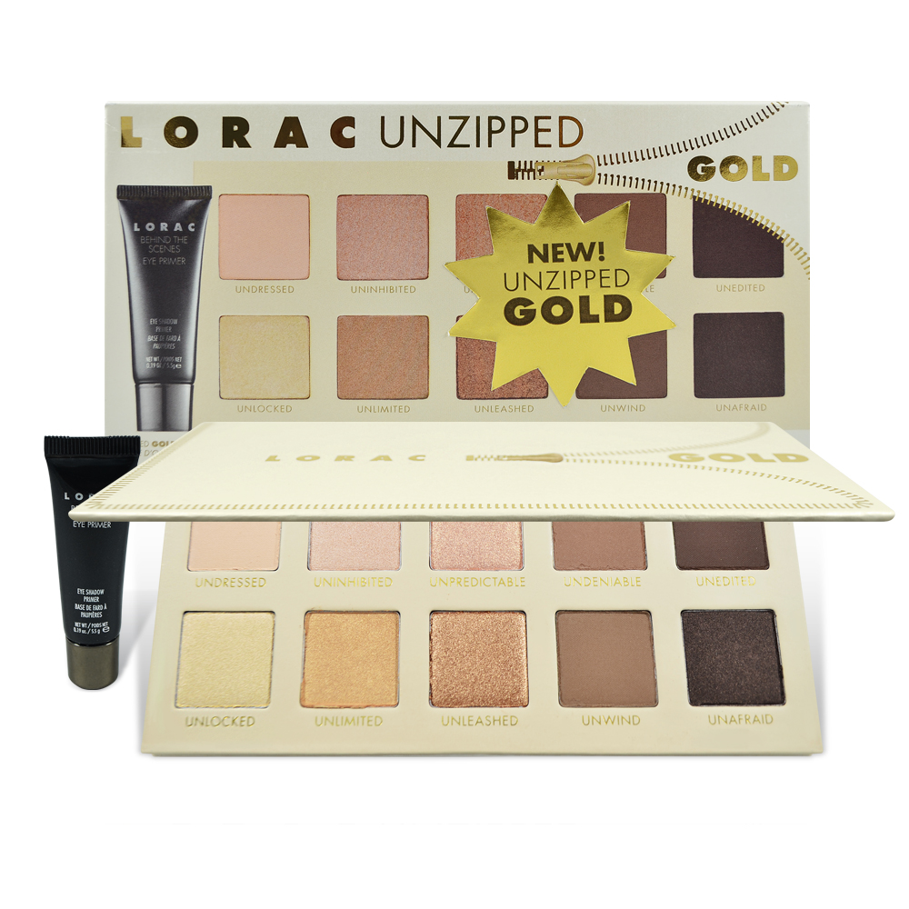 Lorac Unzipped Gold 10色眼影盤+眼部打底膏 5.5g