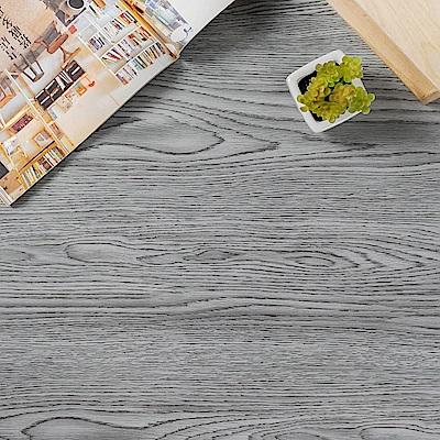 樂嫚妮 塑膠PVC仿木紋DIY地板貼 6.9坪 煙燻灰橡木