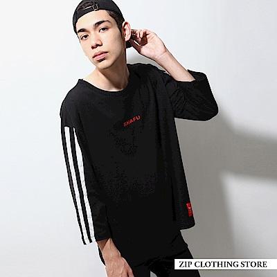 ZIP日本男裝 休閒街頭寬版七分袖T恤(10色)