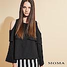 MOMA 露肩壓褶袖上衣