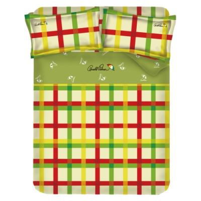 Arnold Palmer雨傘牌 田園交響曲-台製40紗精梳棉床包枕套雙人加大三件組