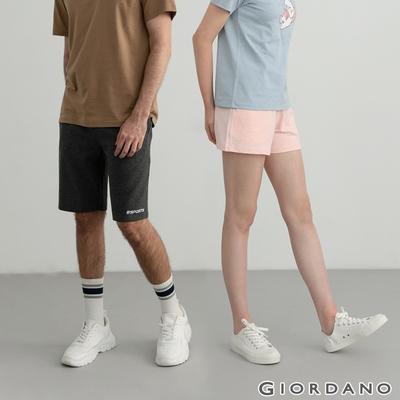 【時時樂】GIORDANO 男/女/童裝 素色針織短褲(多色任選)
