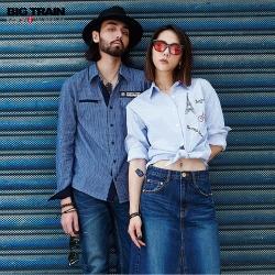 [VVIP專刊] BIG TRAIN 品牌經典長袖條紋襯衫-男女款(3