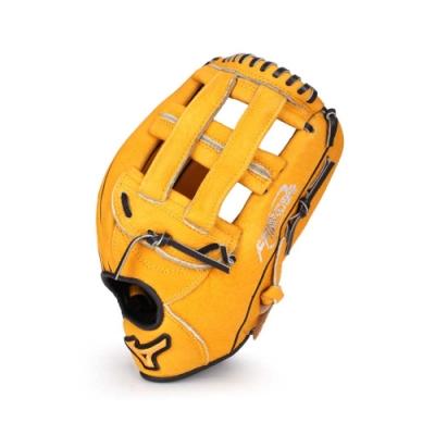MIZUNO 壘球手套外野手 黃黑