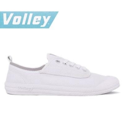 澳洲Volley 輕便休閒白鞋 情侶 男女款 白灰