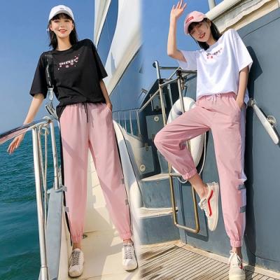 【韓國K.W.】(預購) 激推俏皮可愛櫻花套裝褲