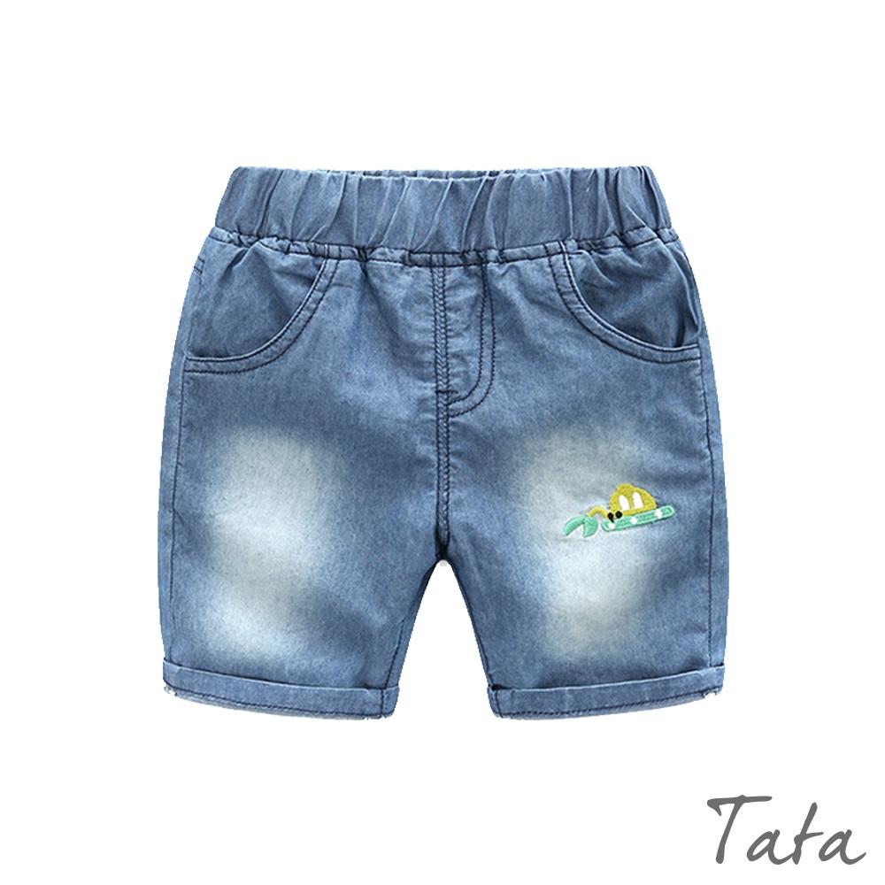 童裝 推土機刺繡牛仔短褲 TATA KIDS