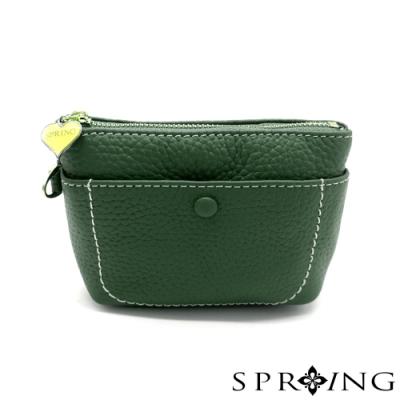 SPRING-太陽的手提鑰匙零錢包-森林綠