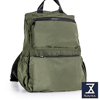 74盎司 防潑水尼龍簡約後背包[LG-855]綠
