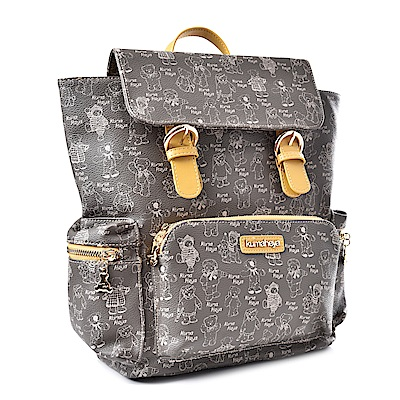 kuma heya -美國熊奶茶色多功能口袋後背包