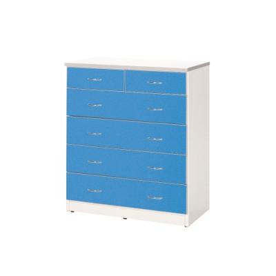 韓菲-防潮藍白色五層塑鋼斗櫃-90x48x110cm