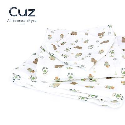 【Cuz】熊熊避冬(紗布巾)115cm