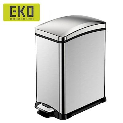EKO樂活緩降靜音不鏽鋼垃圾桶 8L