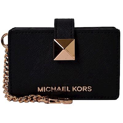 MICHAEL KORS MONEY PIECES經典PVC風琴式吊飾卡片夾-黑