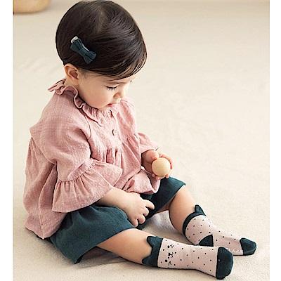 韓國 Happy Prince 點點撞色貓臉嬰兒襪