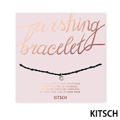 KITSCH 美國加州時尚品牌 許願閃耀方晶鋯石手鍊 @ Y!購物