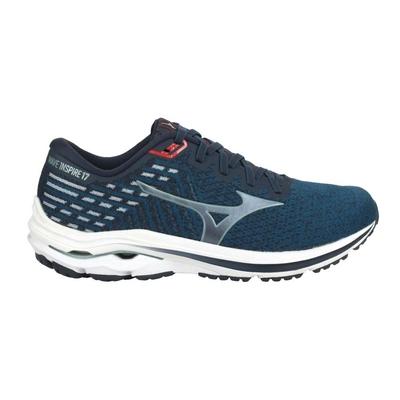 MIZUNO WAVE INSPIRE 17男慢跑鞋-4E-寬楦 美津濃 J1GC212260 藍綠銀