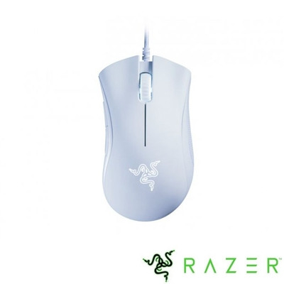 Razer 雷蛇 DeathAdder Essential 雷蛇蝰蛇標準版 電競滑鼠 (白色)