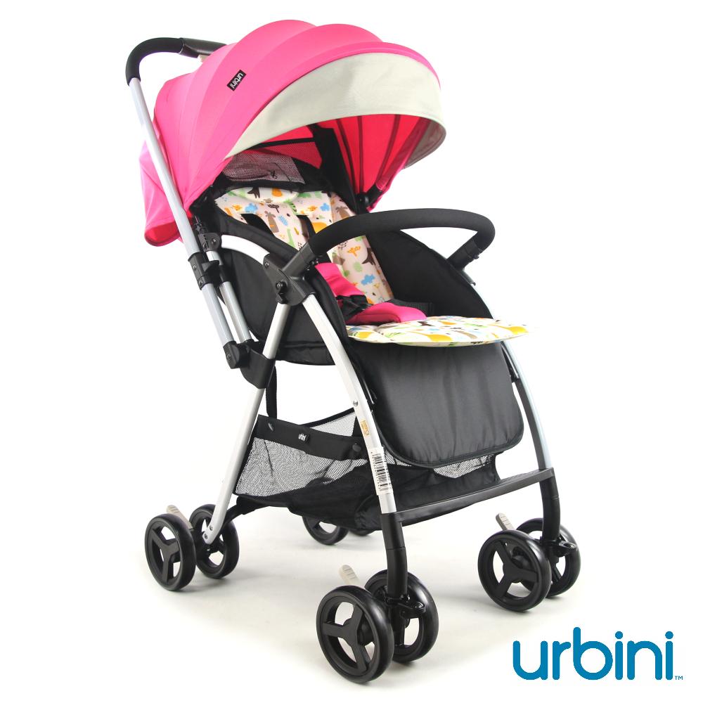 urbini 時尚輕巧嬰兒推車-粉紅