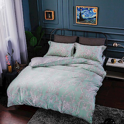 夢工場 溫柔特權40支紗天絲兩用被床包組-加大