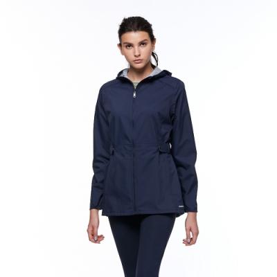 【HAKERS 哈克士】女 3L防水透氣外套(深藍色)