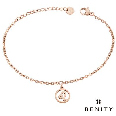 BENITY 星座吊飾 星座物語 獅子座 醫療級抗敏 白鋼 IP玫瑰金 女手鍊