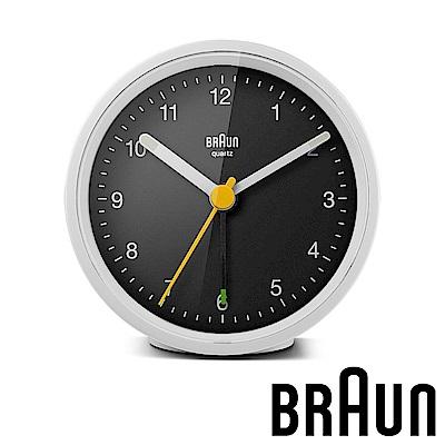 德國百靈 BRAUN 簡約經典款圓形鬧鐘 (BC12WB)-白黑雙色