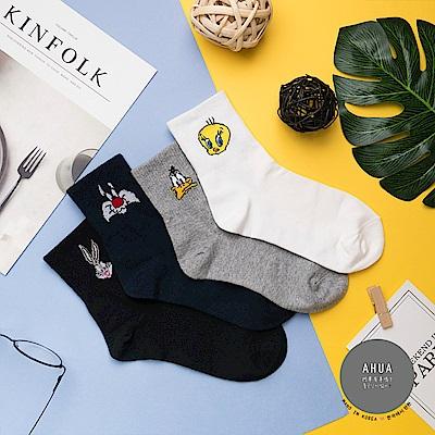 阿華有事嗎 韓國襪子 華納家族卡通中筒襪 韓妞必備長襪 正韓百搭純棉襪