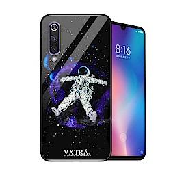VXTRA 小米9 鋼化玻璃防滑全包保護殼(太空漫遊)