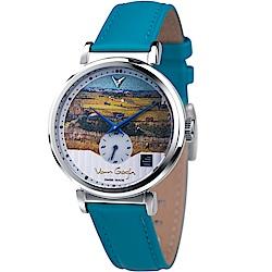梵谷Van Gogh Swiss Watch小秒盤梵谷經典名畫女錶(C-SLLT-23)