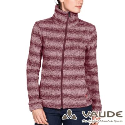【VAUDE德國 】女款時尚刷毛保暖羊毛外套VA-41084酒紅